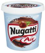 Nugatti Air er myk og luftig. Den er basert på samme oppskrift som originalen, men har fått pisket inn rikelig med luftbobler.  Dette gjør at den får en spennende konsistens og en unik smaksopplevelse, samtidig som den blir ekstra smøremyk.