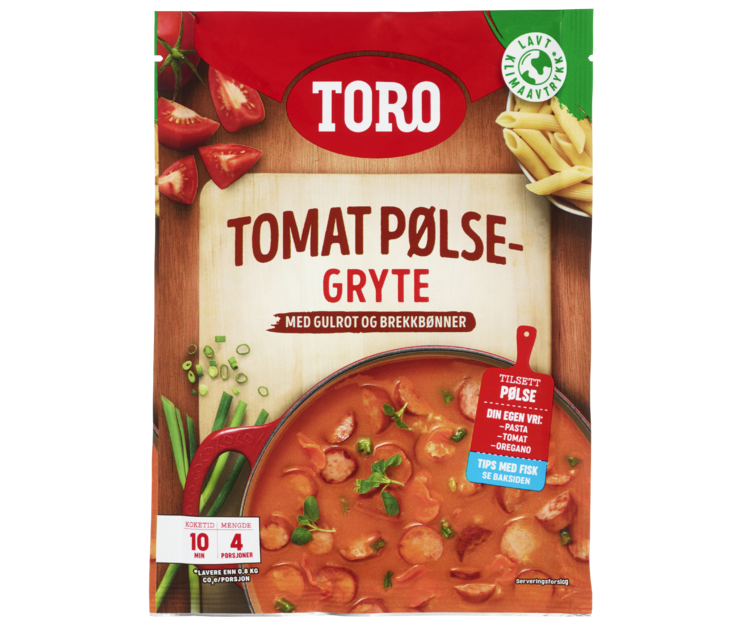 TORO Tomat- & pølsegryte  108 g