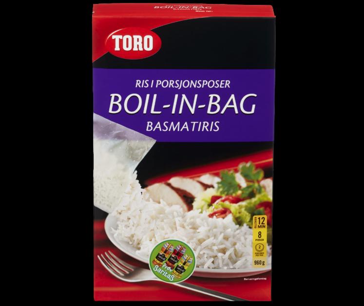 TORO Basmatiris boil in bag  960 g