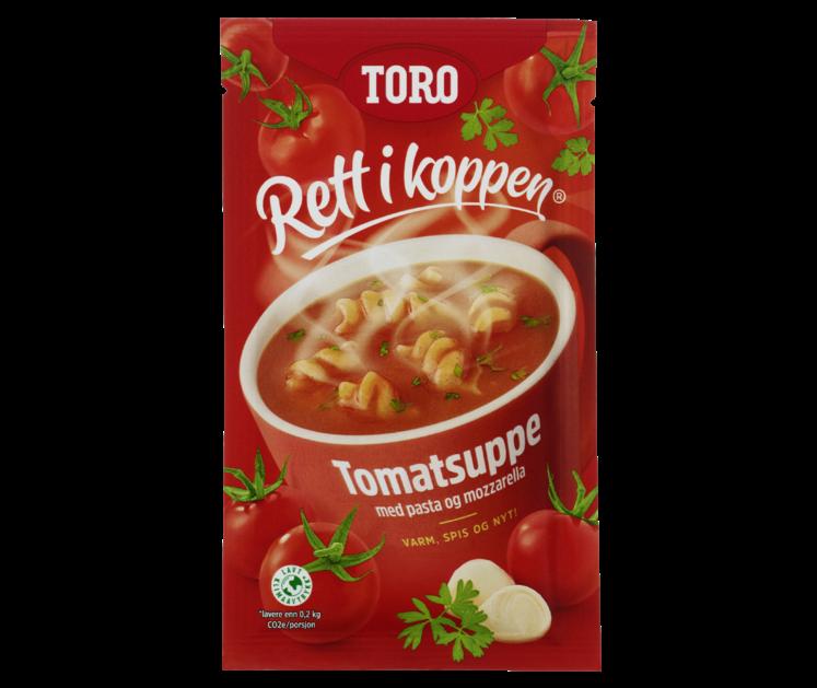 TORO Rett i koppen Tomatsuppe med pasta og mozzarella 26 g