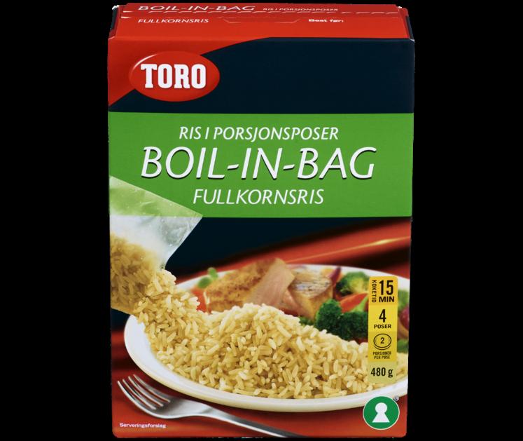 TORO Fullkornsris boil in bag  480 g