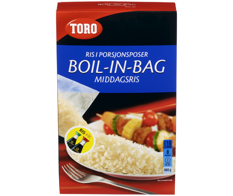 TORO Middagsris boil in bag  960 g