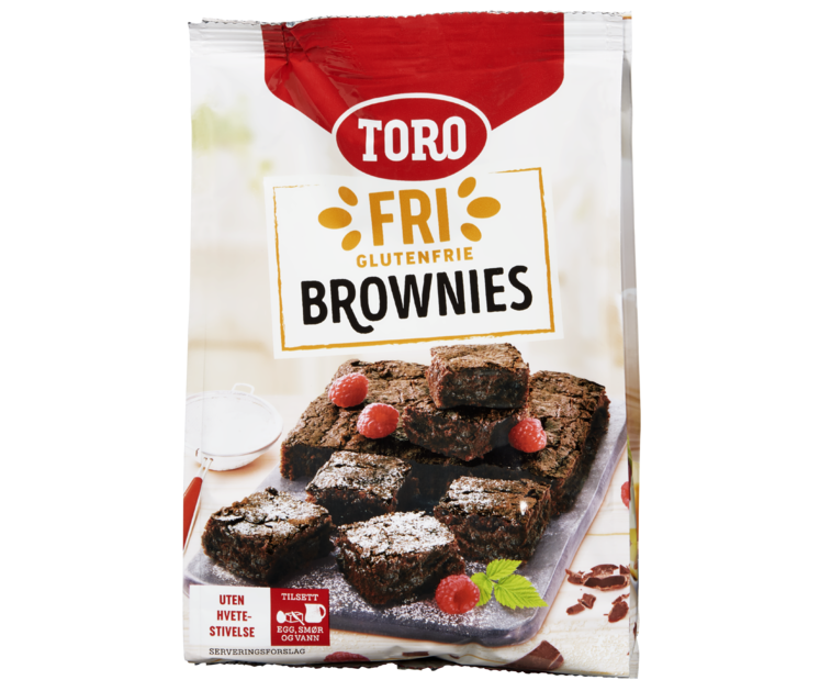 TORO Fri Glutenfrie Brownies 540 g