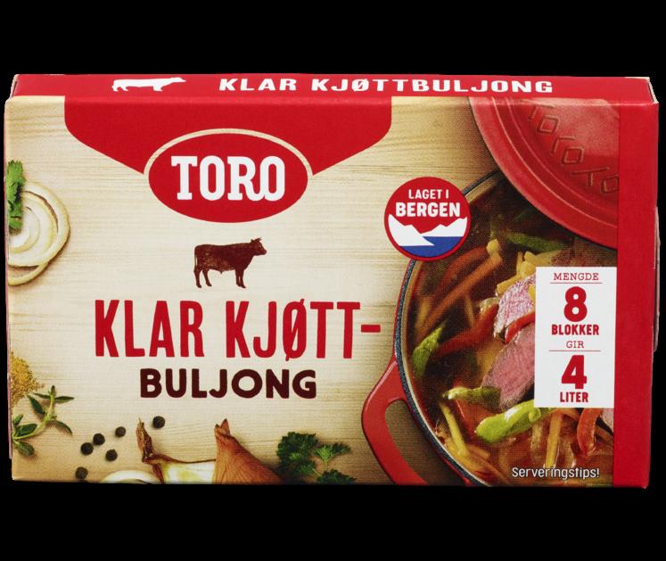TORO Klar kjøttbuljong blokk 80g