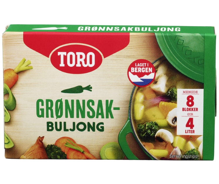 TORO Grønnsaksbuljong blokk 80g