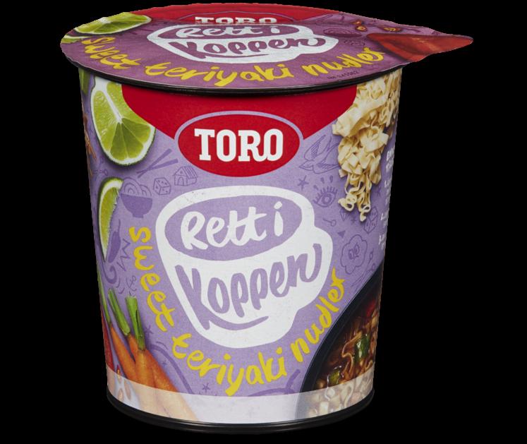 TORO Rett i koppen Sweet Teriyaki Nudler 70g