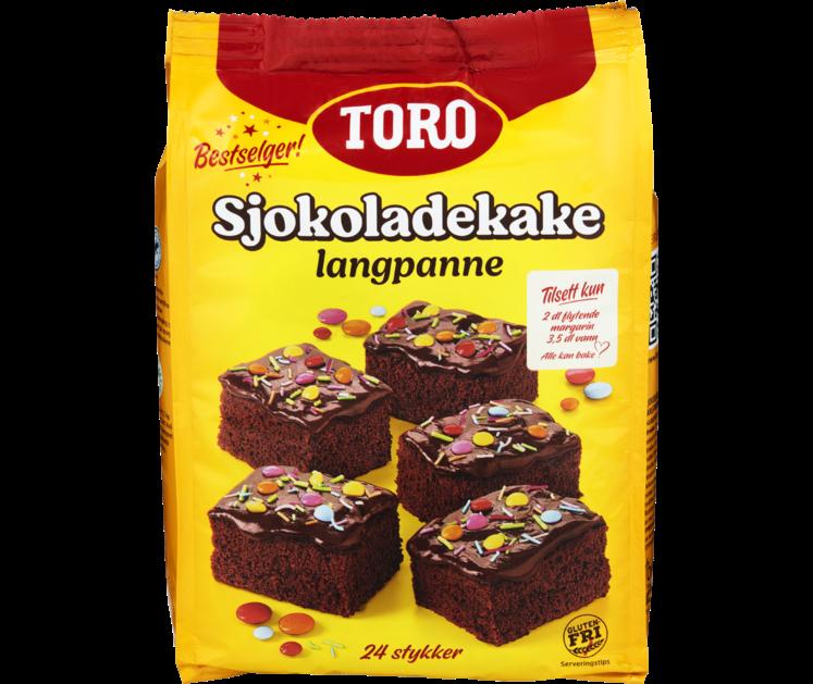 TORO Sjokoladekake Langpanne 854g