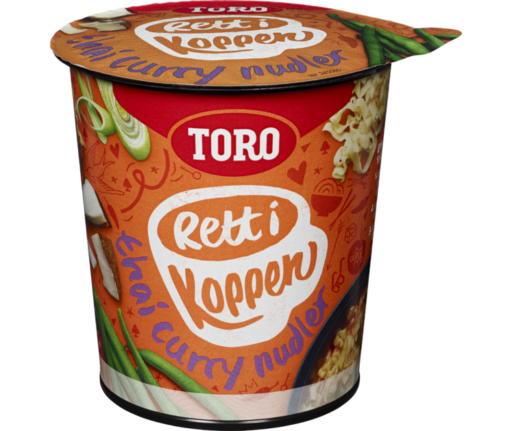 TORO Rett i koppen Thai Curry Nudler 65g