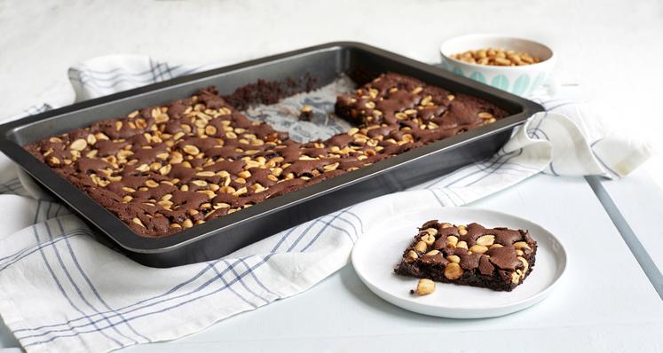 Brownies med peanøtter
