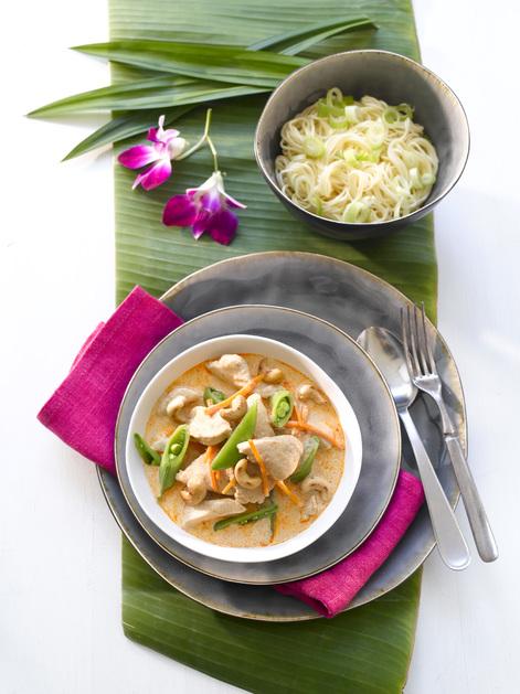 Red Curry kylling med grønnsaker og cashewnøtter