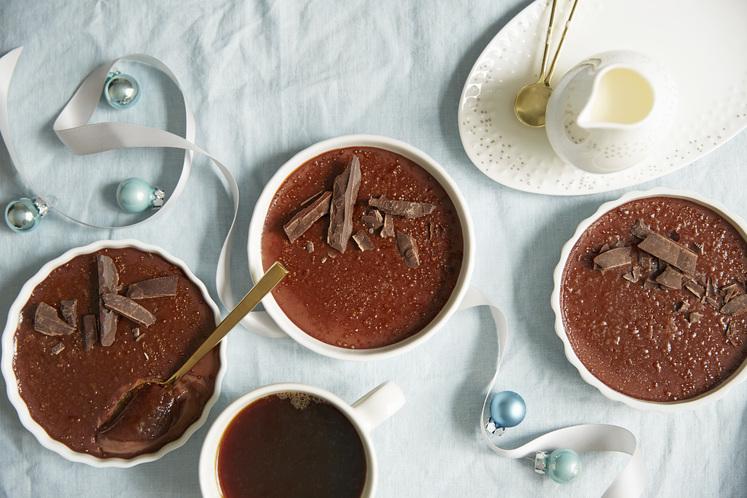 Crème Brûlée med sjokolade