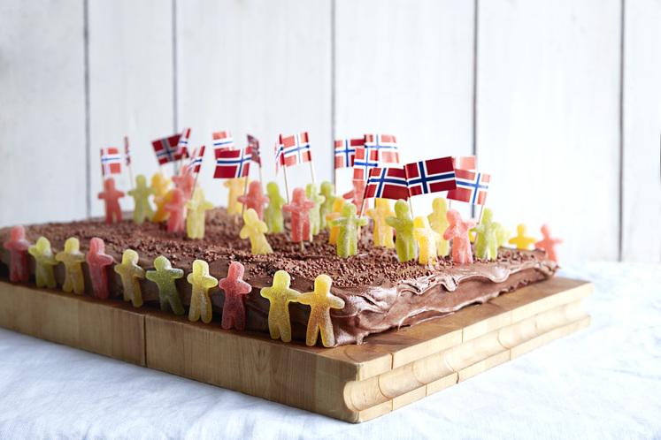 17. mai sjokoladekake