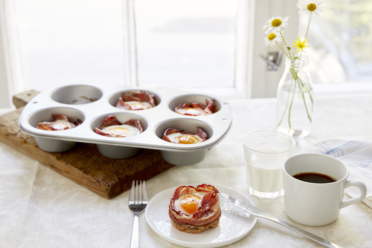 Egg og bacon muffins
