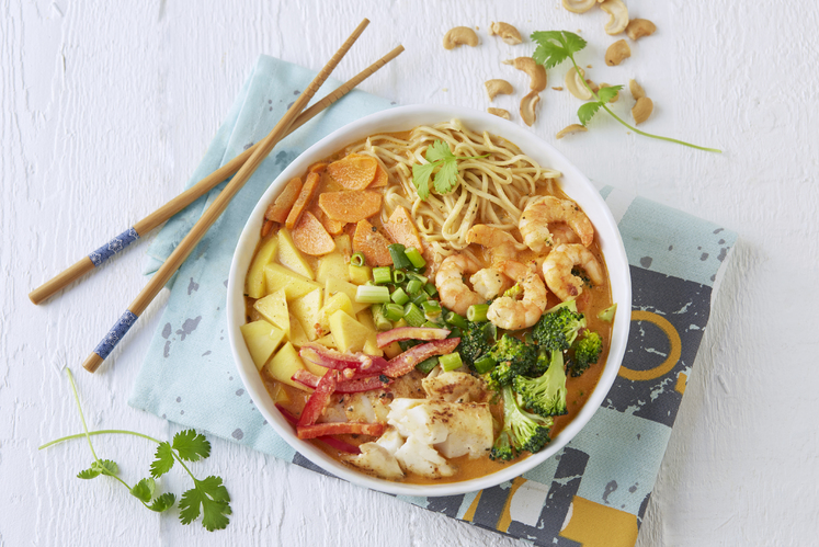 Thaisuppe pokè bowl