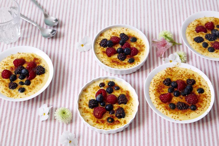 Crème Brûlée med bær