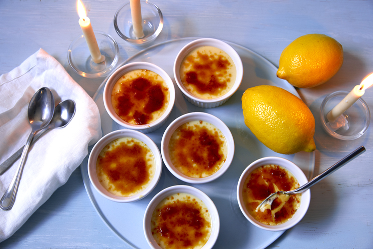 Crème Brûlée med sitron