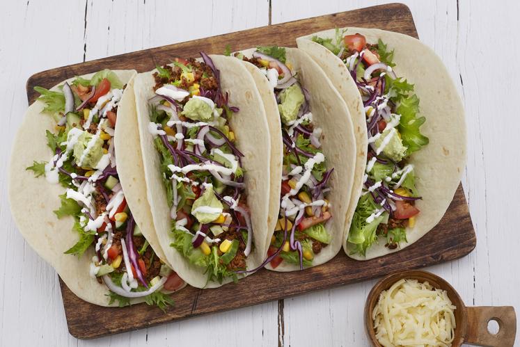 Vegetartaco med hjemmelaget tacokrydder og guacamole
