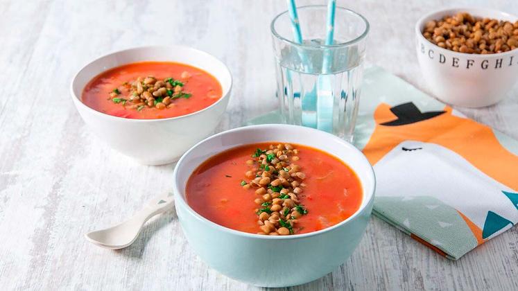 Tomatsuppe med linser