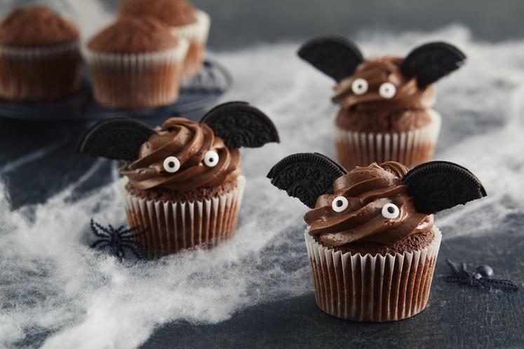 Flaggermus-muffins til Halloween