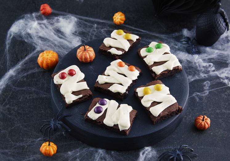 Mumie-brownies til Halloween
