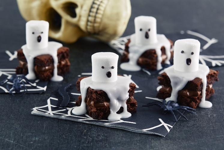 Browniesspøkelser til Halloween