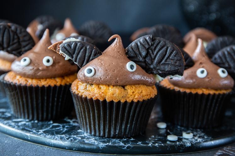 Halloween muffins – flaggermus