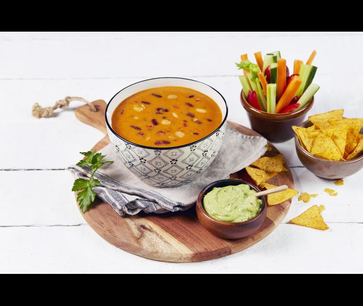 Meksikansk tomatsuppe med bønner